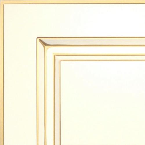 Кухни Мария, Модель Nicolle, Цвет фасада Белый с золотой патиной