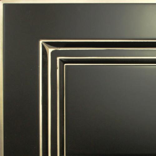 Кухни Мария, Модель Nicolle, Цвет фасада Черный с патиной шампань