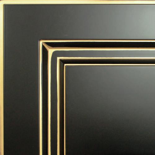 Кухни Мария, Модель Nicolle, Цвет фасада Черный с золотой патиной