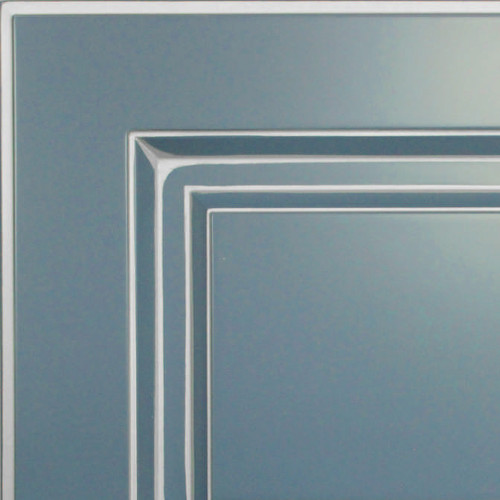Кухни Мария, Модель Nicolle, Цвет фасада Грифельно-синий с серебряной патиной