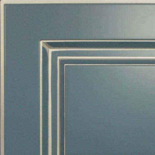 Кухни Мария, Модель Nicolle, Цвет фасада Грифельно-синий с патиной шампань