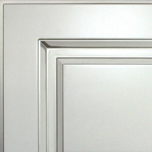 Кухни Мария, Модель Nicolle, Цвет фасада Жемчужно-белый с серебряной патиной