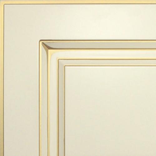 Кухни Мария, Модель Nicolle, Цвет фасада Жемчужно-белый с золотой патиной