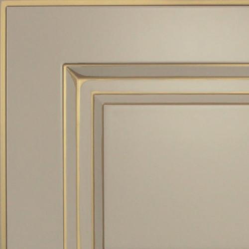 Кухни Мария, Модель Nicolle, Цвет фасада Жемчужно-розовый с золотой патиной