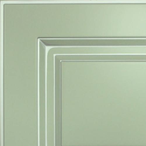 Кухни Мария, Модель Nicolle, Цвет фасада Пастельно-мятный с серебряной патиной