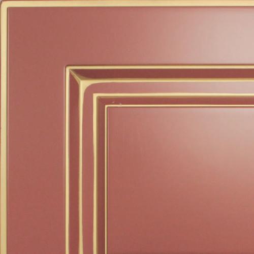 Кухни мария, модель nicolle, цвет фасада терракотовый с золотой патиной