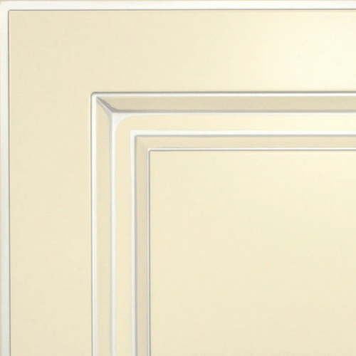 Кухни Мария, Модель Nicolle, Цвет фасада Ваниль с серебряной патиной