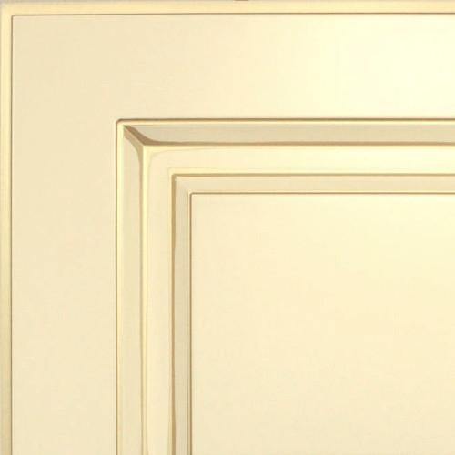 Кухни Мария, Модель Nicolle, Цвет фасада Ваниль с золотой патиной
